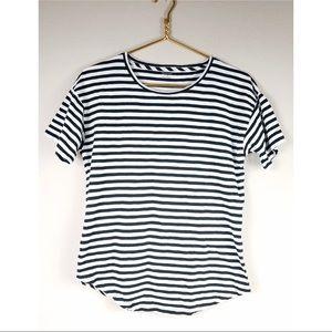 Madewell Black White Stripe T Medium